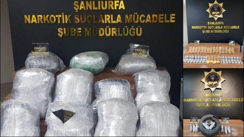 149 kilo 500 gram uyuşturucu Şanlıurfa polisine takıldı