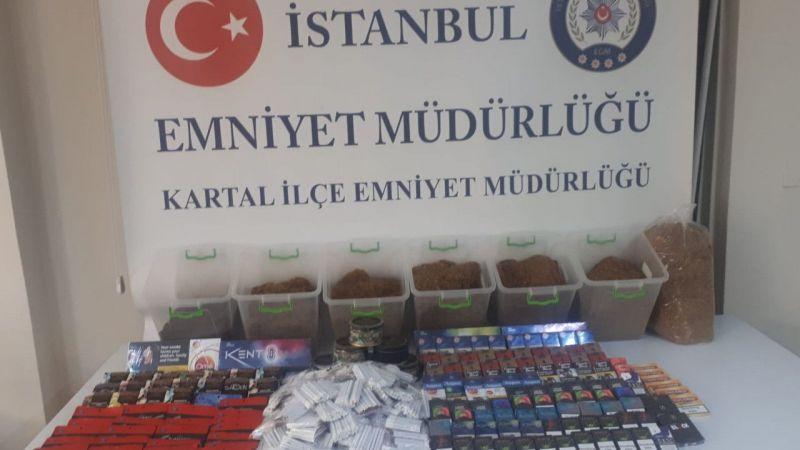 İstanbul'da kaçak tütün baskını