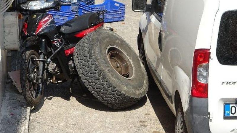 Araçtan kopan tekerlek faciaya neden oluyordu
