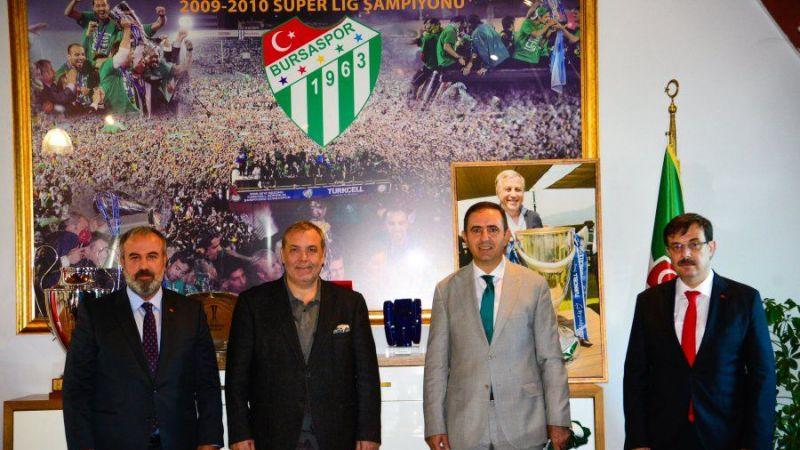 Bursaspor'un önemli ziyaretçileri