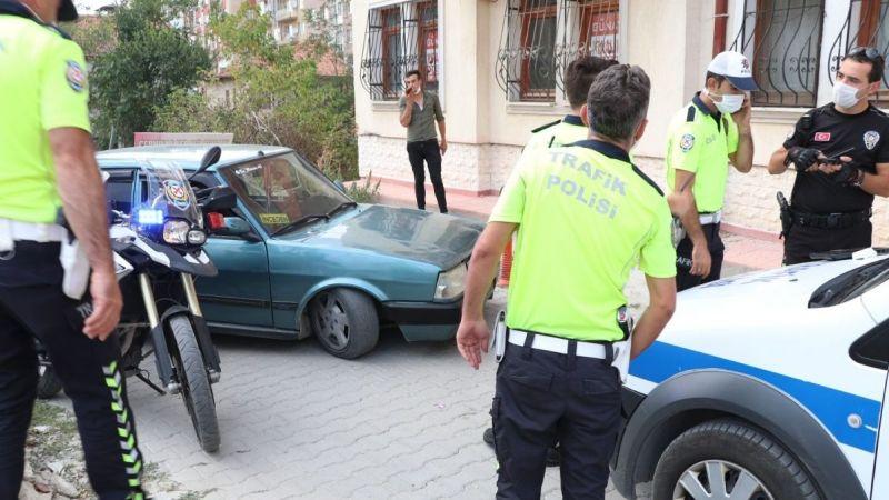 Kesilen cezayı görünce polise dil döktü