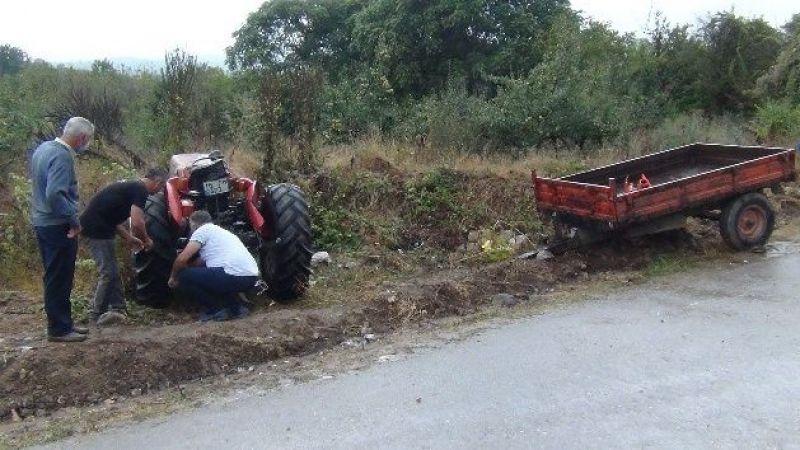 İnegöl'de traktörün devrilmesi sonucu kaza meydana geldi