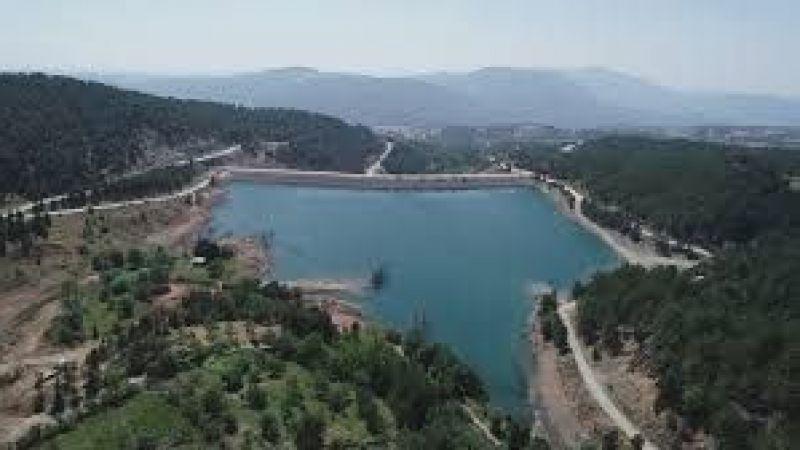 Bursa'da  arazilerin sulanmasını sağlayacak gölette testler başlatıldı