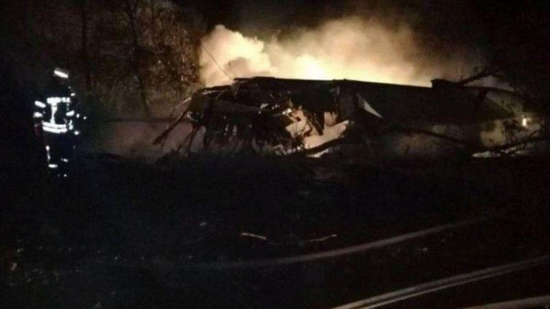 Ukrayna'ya ait askeri uçak düştü
