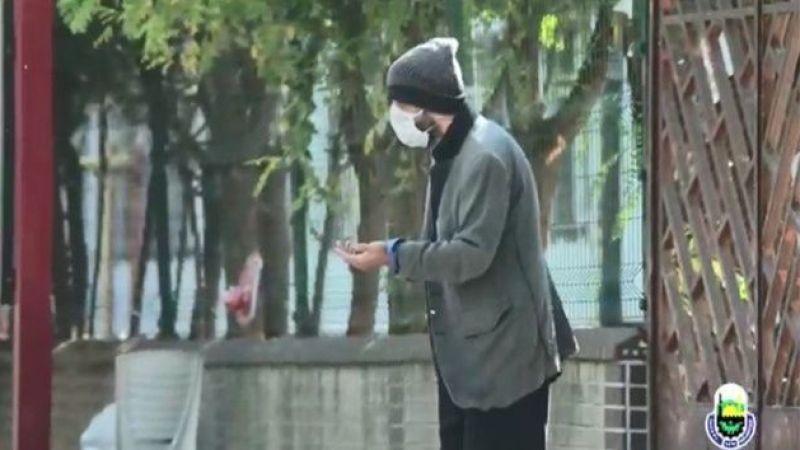 Bursa'da oyuncu dilenci kılığına girdi