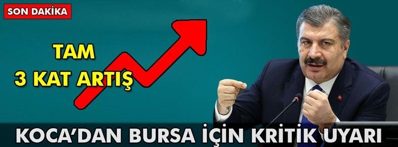 Koca'dan Bursa için kritik uyarı