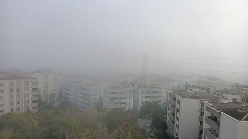 Nilüfer'e sis çöktü