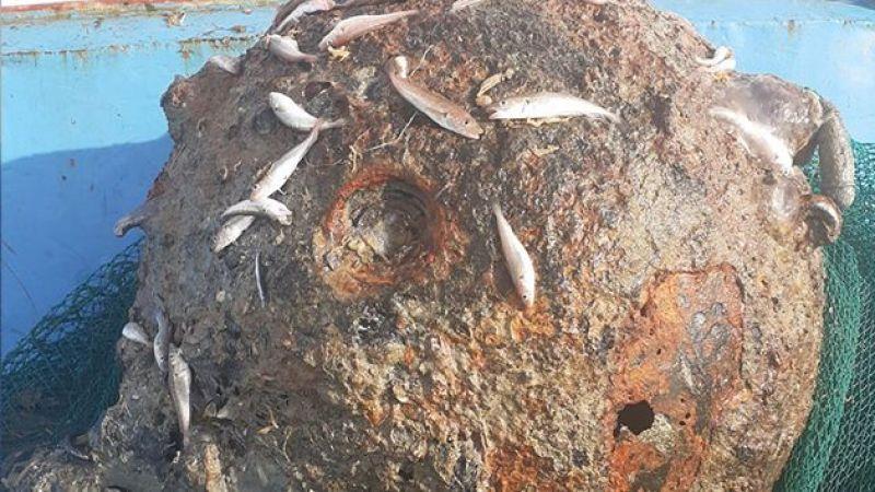 Rumeli Feneri'nde balıkçıların ağına mayın takıldı