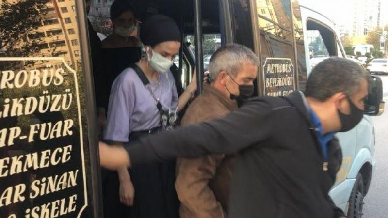 Esenyurt'ta minibüs şoförüne ceza üzerine ceza