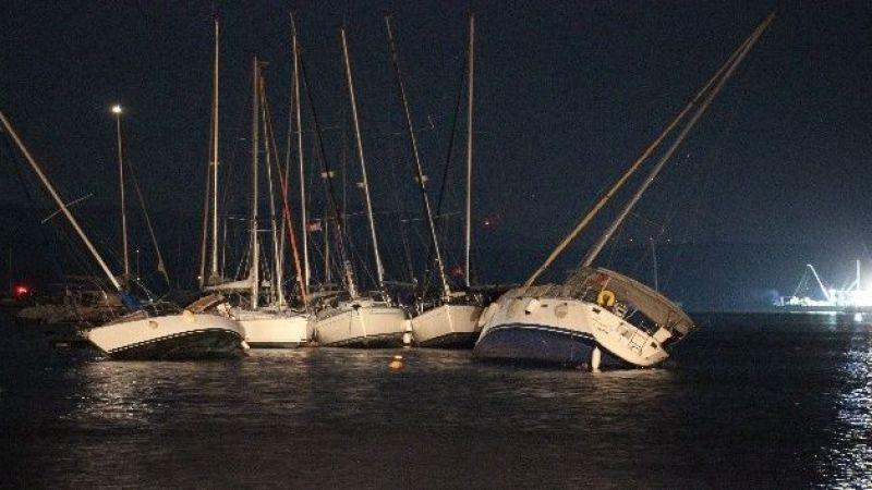 Deprem sonrası denizde ürperten görüntü