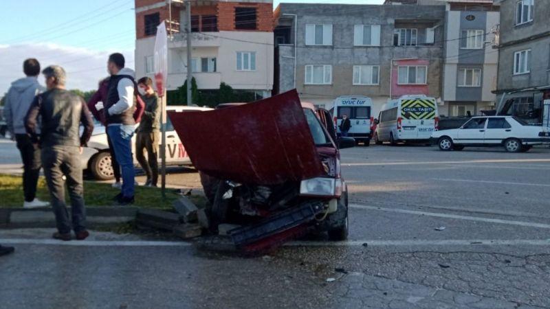 Bursa'da korkutan kaza! Saniye saniye görüntülendi