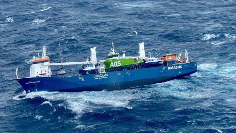 Hollandalı gemi mürettebatı kurtarıldı