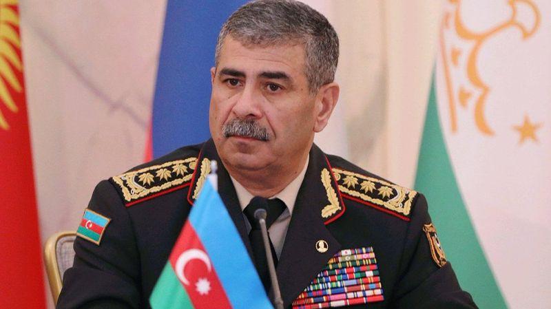 Azerbaycan Savunma Bakanı Hasanov'dan taziye mesajı