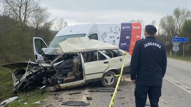 Bartın'da kaza: 1 ölü 1 yaralı