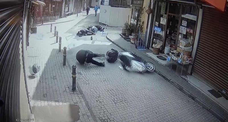 Bursa'da iki motosiklet çarpıştı çarpan sürücü kaçtı