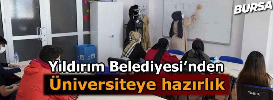 Bursa'da Yıldırım Belediyesi gençleri üniversiteye hazırlıyor