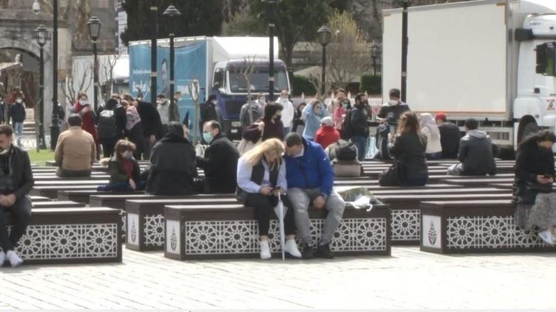İstanbul'da turist yoğunluğu
