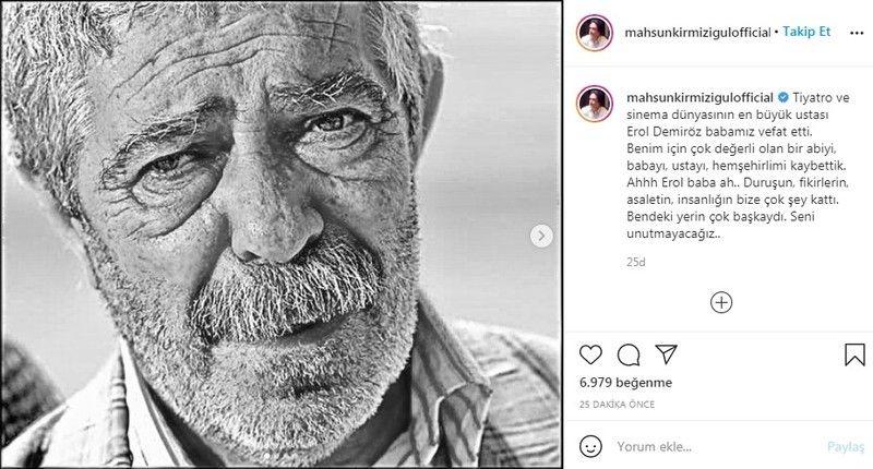 Usta oyuncu Erol Demiröz vefat etti