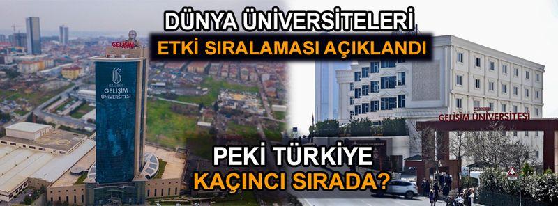 İstanbul Gelişim Üniversitesi dünya sıralamasında kaçıncı sırada?