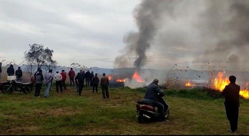 İznik Gölü'nde yangın: 15 dönüm kül oldu