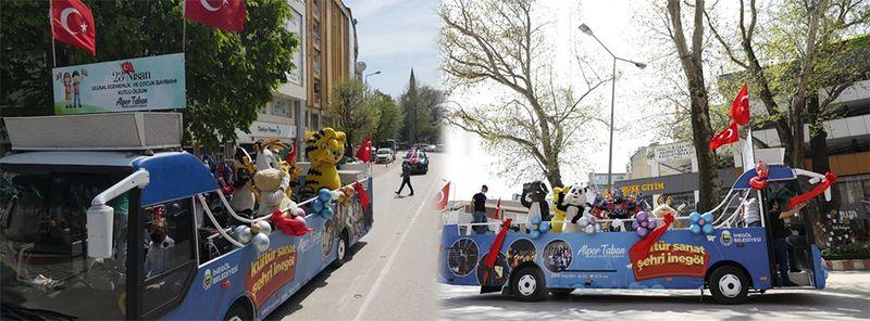 Bursa'dan 23 Nisan manzaraları