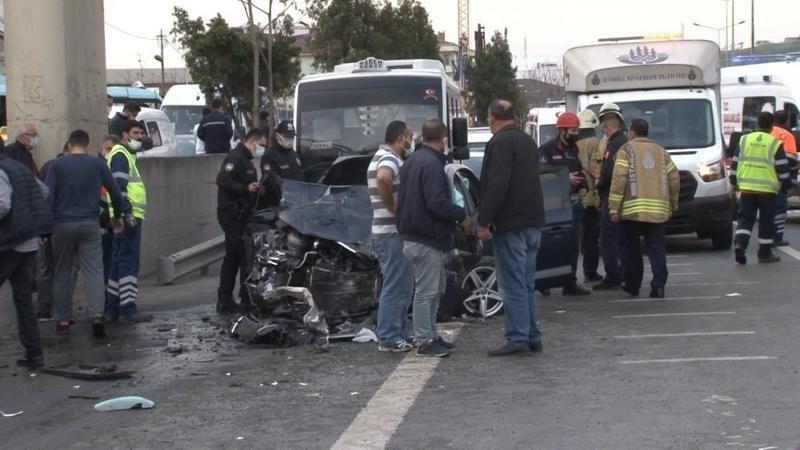 İstanbul'da kaza: 1 ölü 5 yaralı