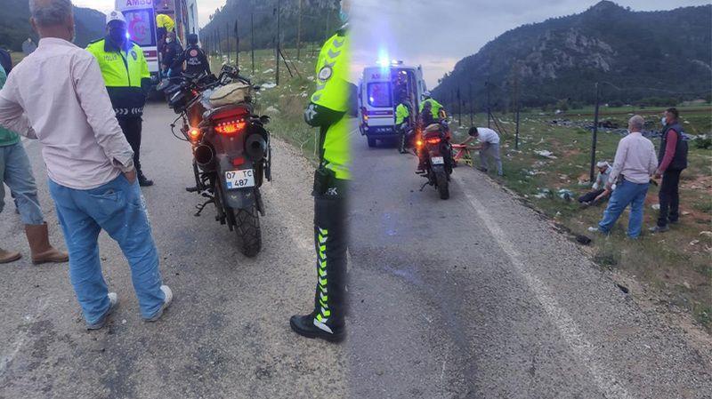 Burdur'da motosiklet kazası: 2 yaralı