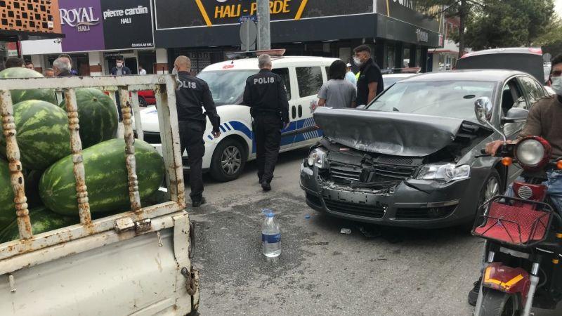 Konya'da bıçaklı sopalı trafik kavgası
