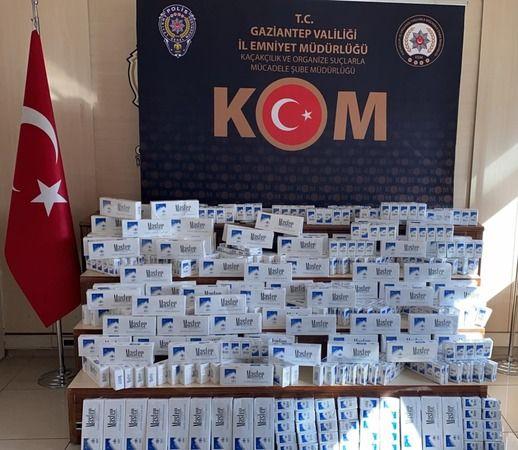 Arabadan bin 970 adet kaçak sigara çıktı