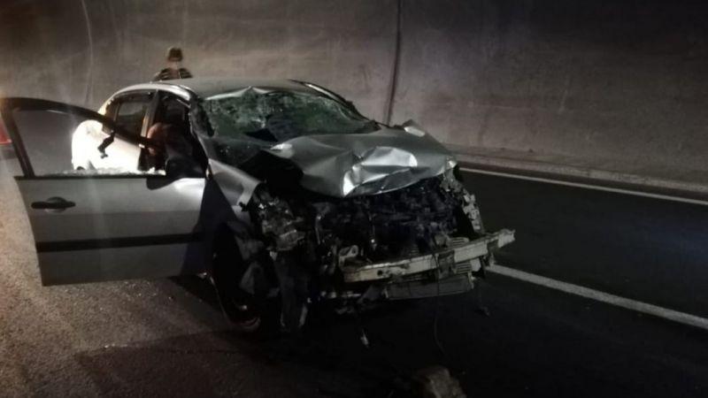 Malatya Erkenek Tüneli'nde feci kaza: 1 ölü 1 ağır yaralı