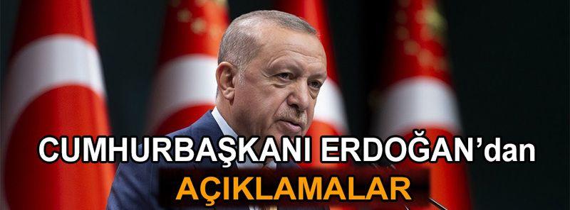 Cumhurbaşkanı Erdoğan'dan aşı açıklamaları