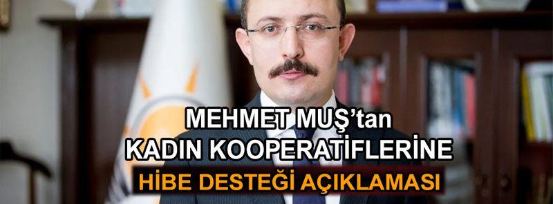Mehmet Muş: Kadın kooperatiflerimize hibe desteği devam edecek