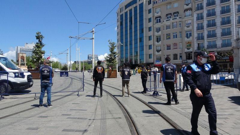 İstanbul Taksim'de turistlere yönelik denetim