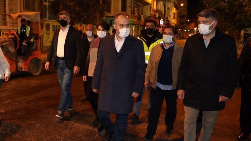 Alinur Aktaş Mudanya'da yol çalışmasını yerinde inceledi