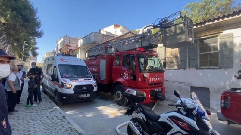 Aydın'da uyuşturucu bağımlıları binayı ateşe verdi