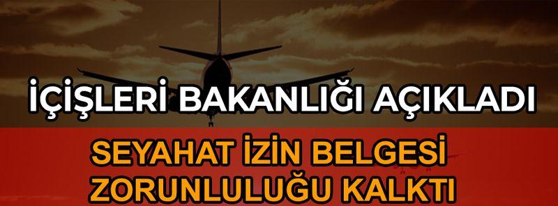 İçişleri Bakanlığı'ndan uçak yolcuları ile ilgili açıklama