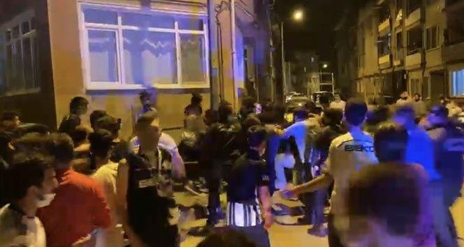 Bursa'da iki taraftar arasında kavga çıktı