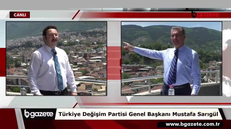 TDP Genel Başkanı Mustafa Sarıgül Bursa'da söz verdi