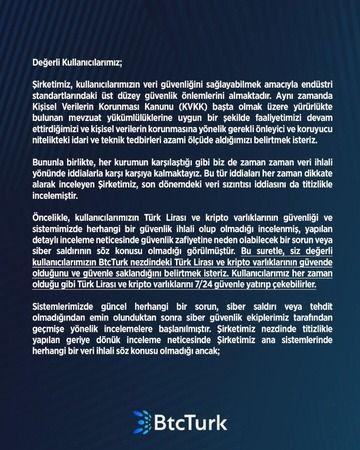 BTC Turk'ten ''Hack'' iddialarına yanıt
