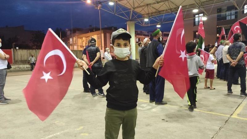 Bursa'da İsrail'in saldırıları Gürsu'da protesto edildi