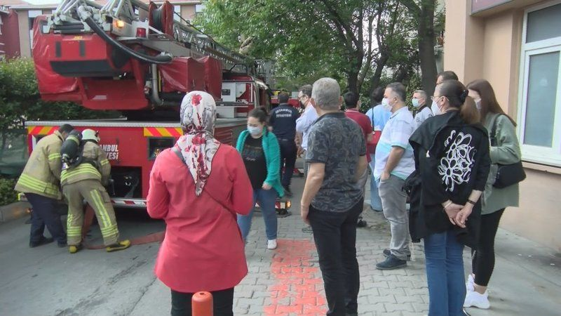 İstanbul'da Fakültede yangın