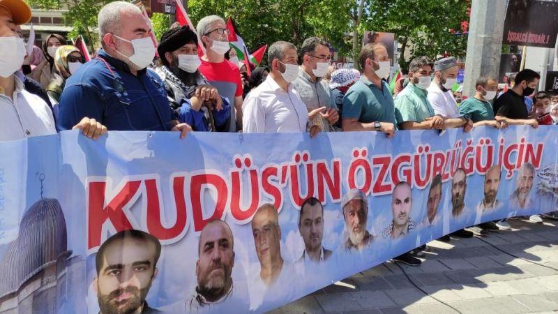 Bursa'da binlerce kişi Filistin için yürüdü