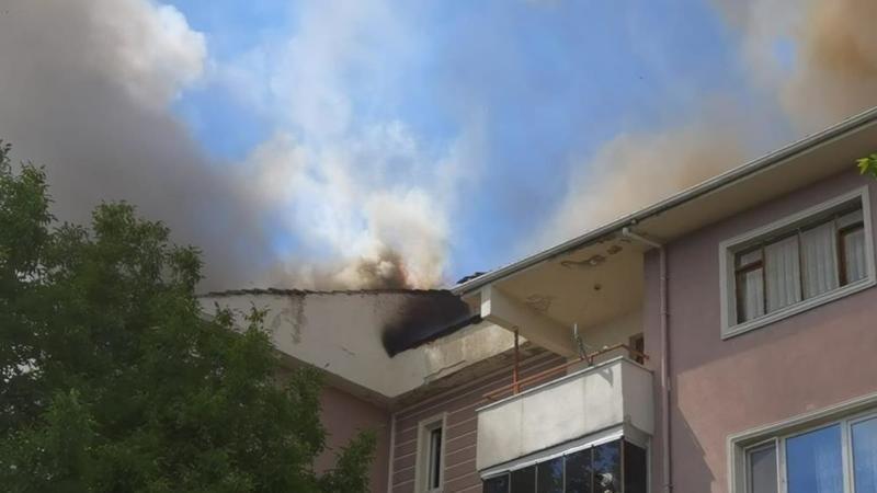 Bursa'da yangın vatandaşlarda paniğe neden oldu