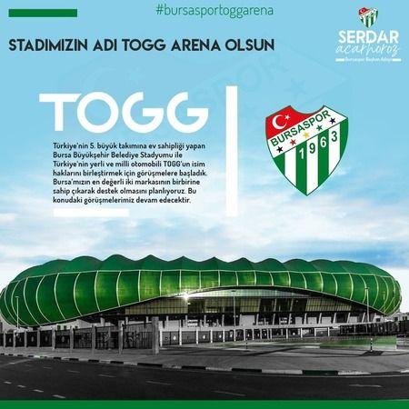 Timsah Arena'nın adı TOGG Arena olsun