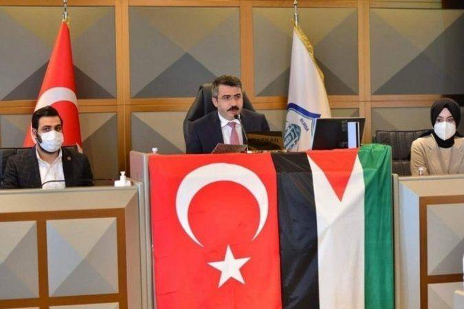 Bursa Yıldırım Belediyesi'nde İsrail'e tepki