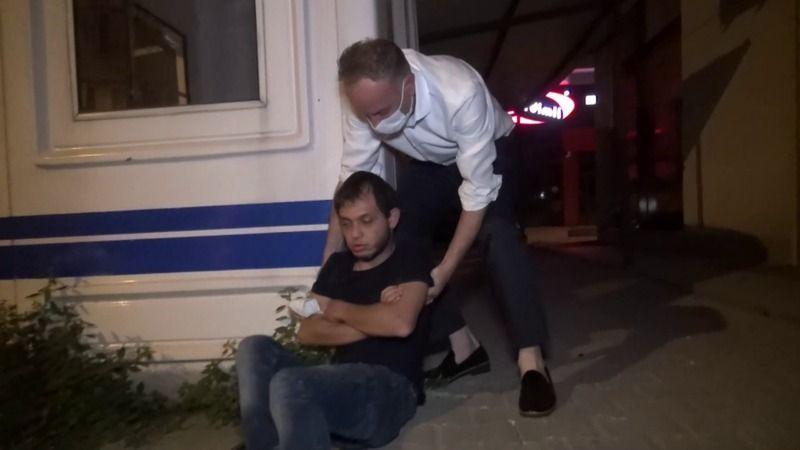 Bursa'da alkollü gencin tavırları yürek burktu