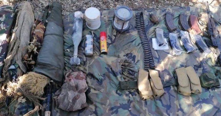 MSB duyurdu:PKK'ya ait silah ve muhimmat ele geçirildi