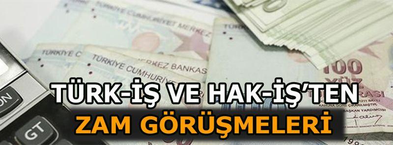 Türk-İş ve Hak-İş'ten zam görüşmesi