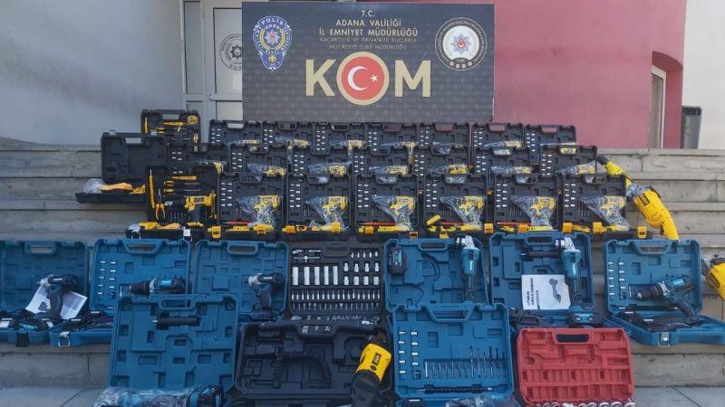 Adana'da büyük kaçakçılık operasyonu