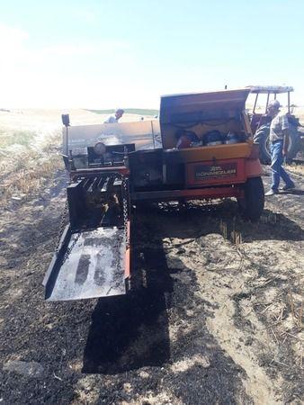Adana'da 15 dönüm buğday kül oldu